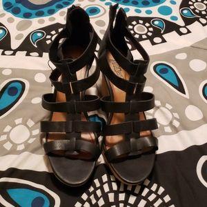 Brash Black Platform Sandals 10
